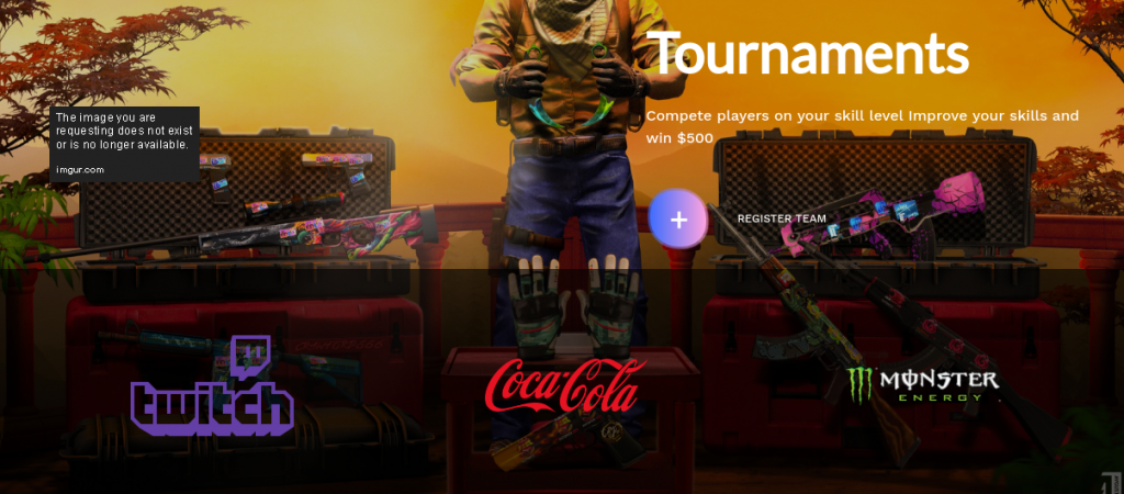This finely designed tournament page is nothing more than a scam that capitalizes on well-known and trusted brands