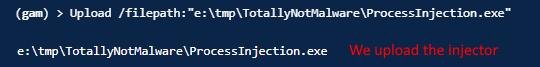 Uploading injector application