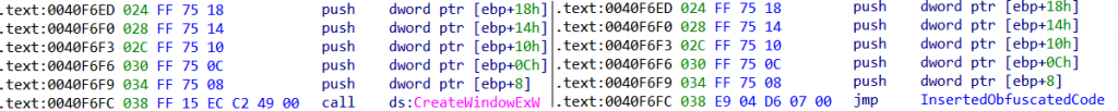 The original (left) and patched (right) code of the backdoored application