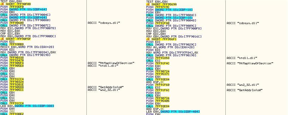 Пример общего функционала загрузчиков Andromeda и Chthonic