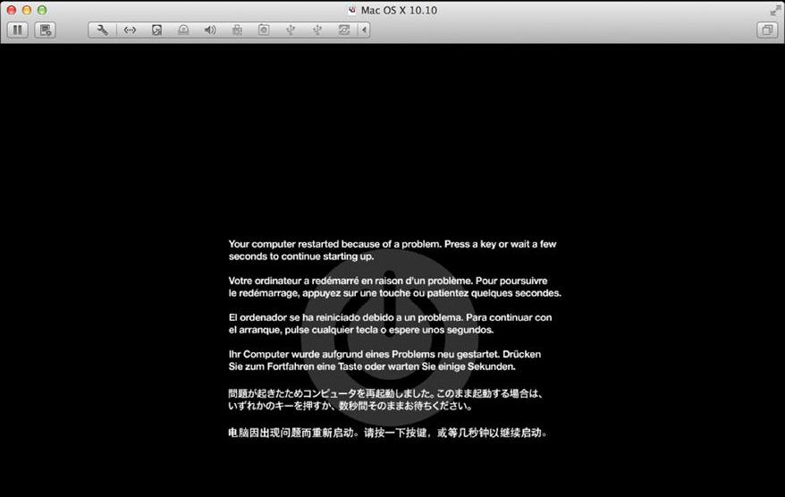 Аварийное завершение работы OS X 10.10