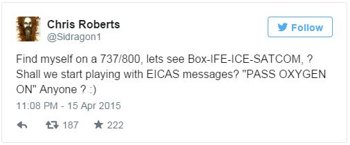 Одна из записей Робертса в Twitter