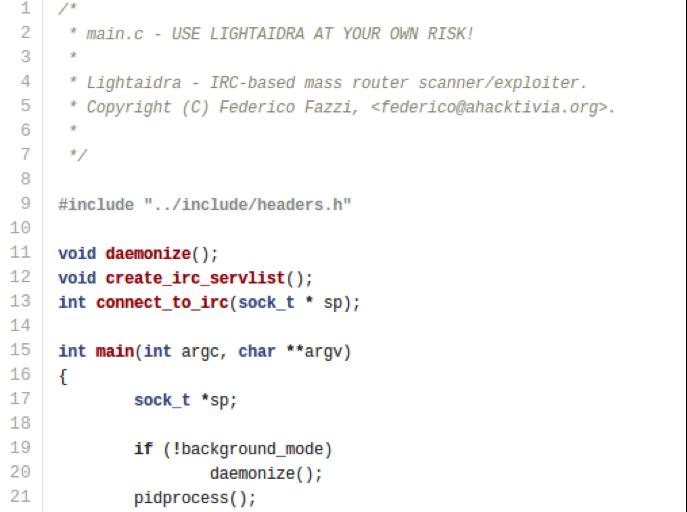 Aidra – инструмент для DDoS-атак с открытым исходным кодом
