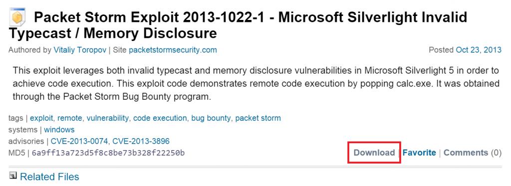 Загадочный случай с уязвимостью CVE-2016-0034: Охота на уязвимость нулевого дня в Microsoft Silverlight