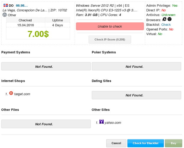 xDedic: теневой рынок взломанных серверов
