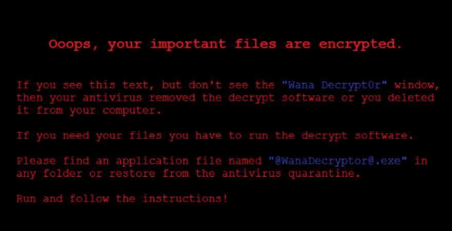 Вымогатель WannaCry, использованный для широкомасштабных атак по всему миру