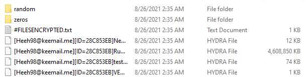 Зашифрованные файлы и записка