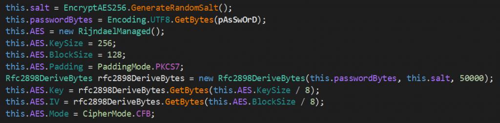 Функция шифрования в XMRLocker