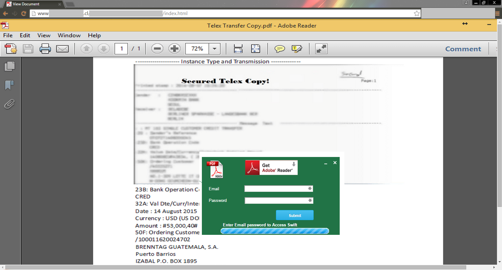 Phishing-Trampolin – Integration von Redirects in PDF-Dokumente