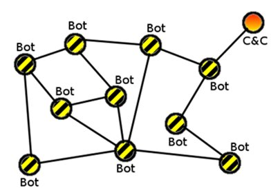 Architecture of a P2P botnet
