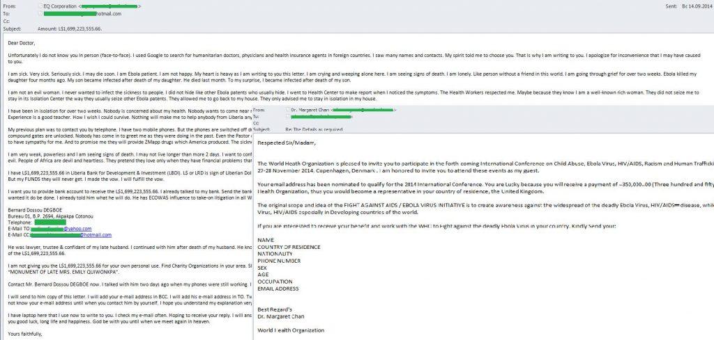 El spam en septiembre de 2014