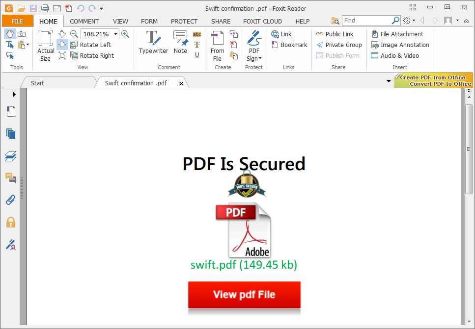 Un trampolín phishing: redirecciones incrustadas en documentos PDF