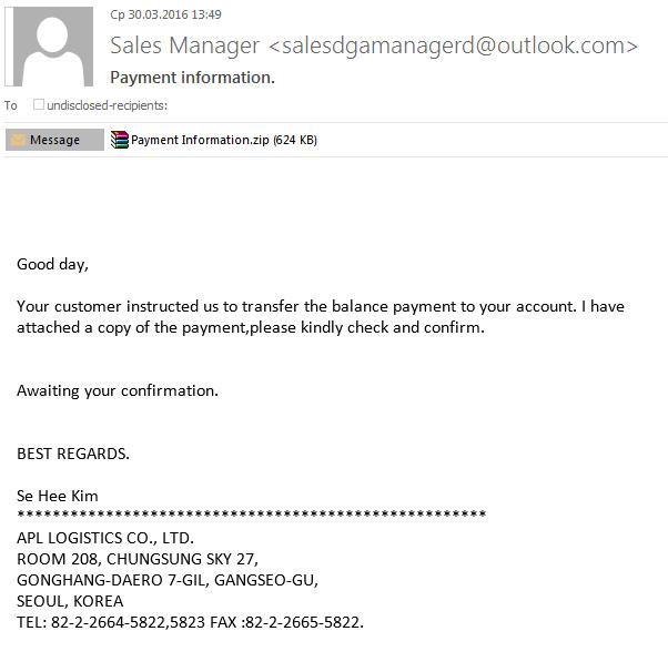 Spam y phishing en el primer trimestre de 2016