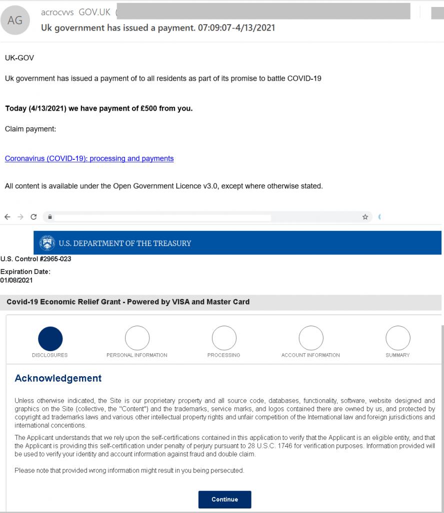 Spam y phishing en el segundo trimestre de 2021: fraude de compensación por la pandemia COVID-19