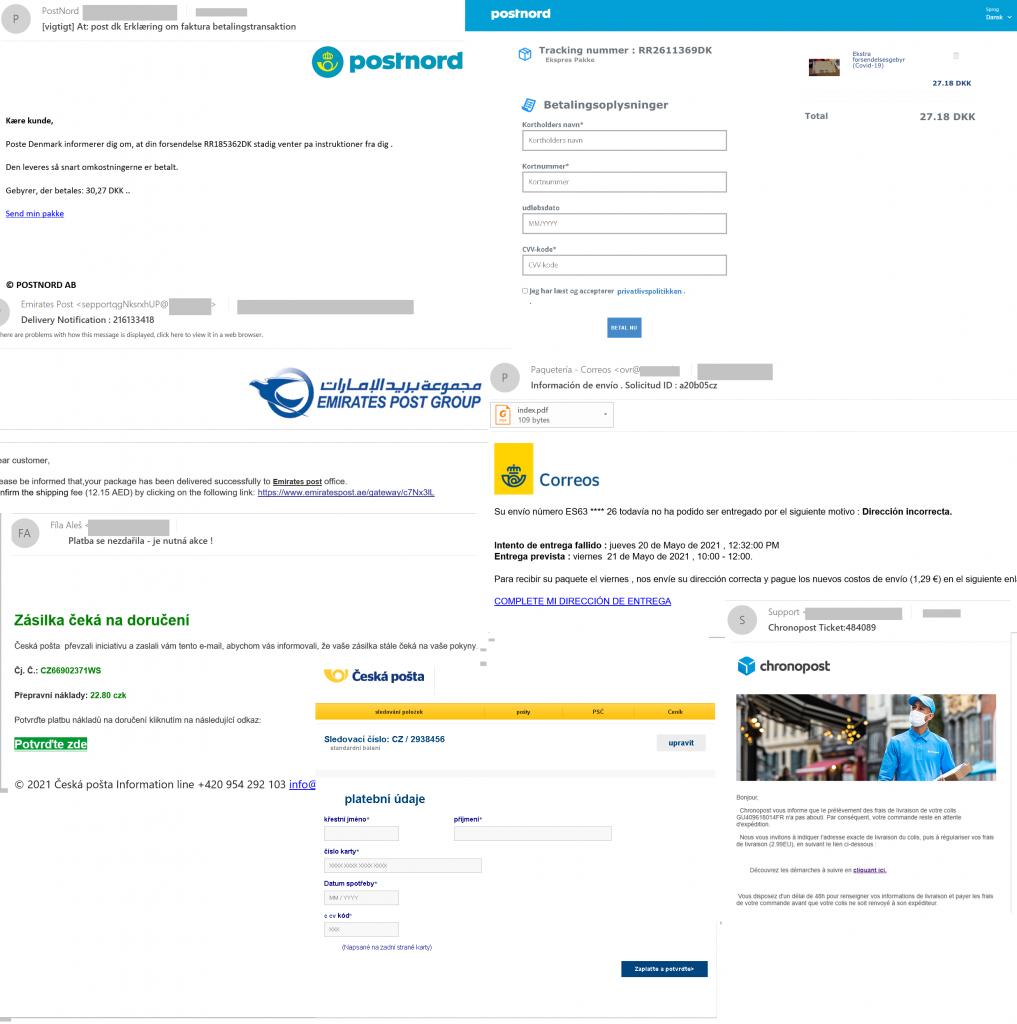 Spam y phishing en el segundo trimestre de 2021: mensajes de entrega falsos
