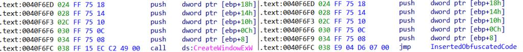 El código original (izquierda) y el parchado (derecha) de la aplicación con puerta trasera