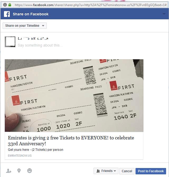 Deux billets d'avion comme appât
