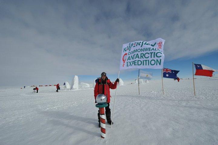 Aleks Gostev at the South Pole