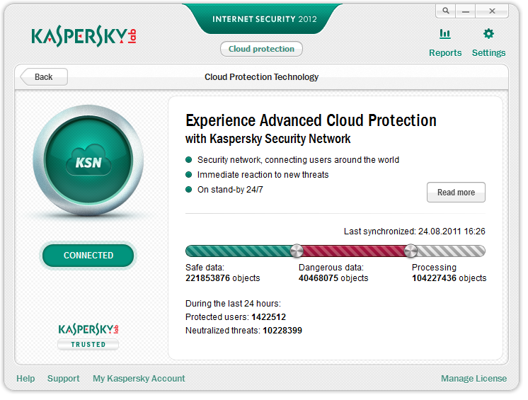 Kaspersky cloud protection