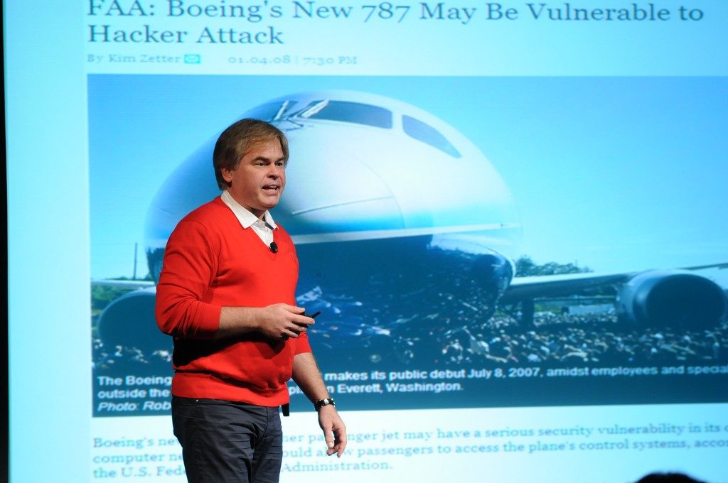 Eugene Kaspersky talking at a conference