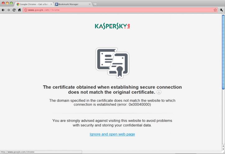 Kaspersky Certificate