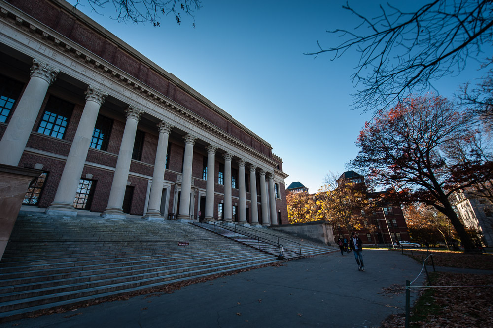 Harvard University Library From The Outside