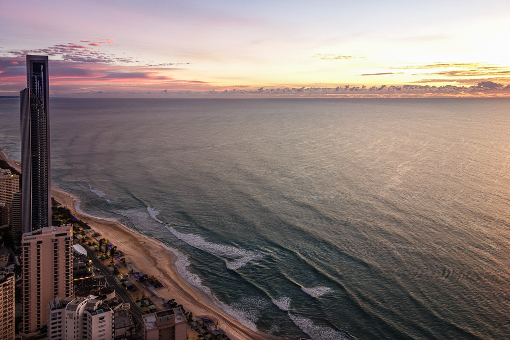 Australia Surfers Paradise Gold Coast sunrise