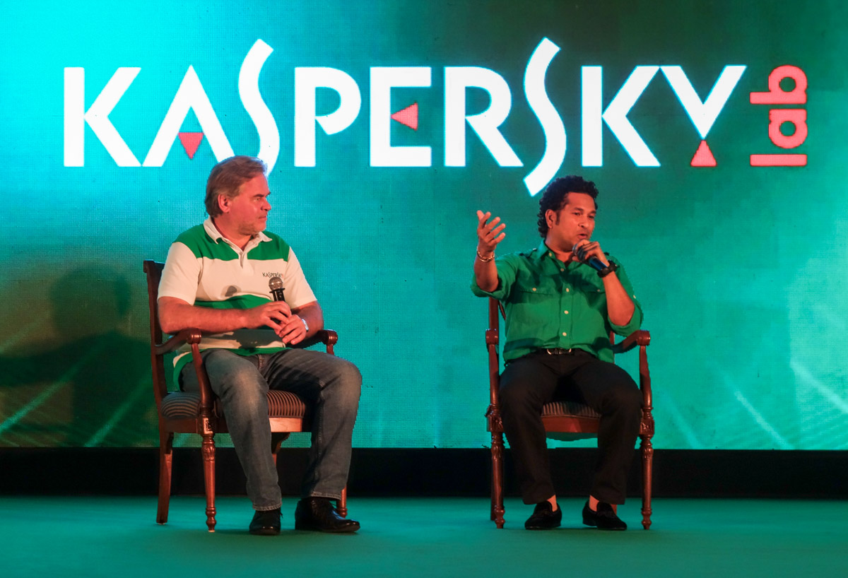 Sachin Tendulkar launching Kaspersky Kids program in India
