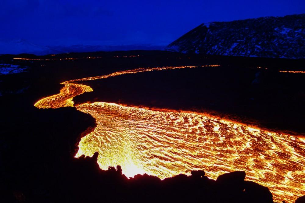 Eruption of Tolbachik in Kamchatka