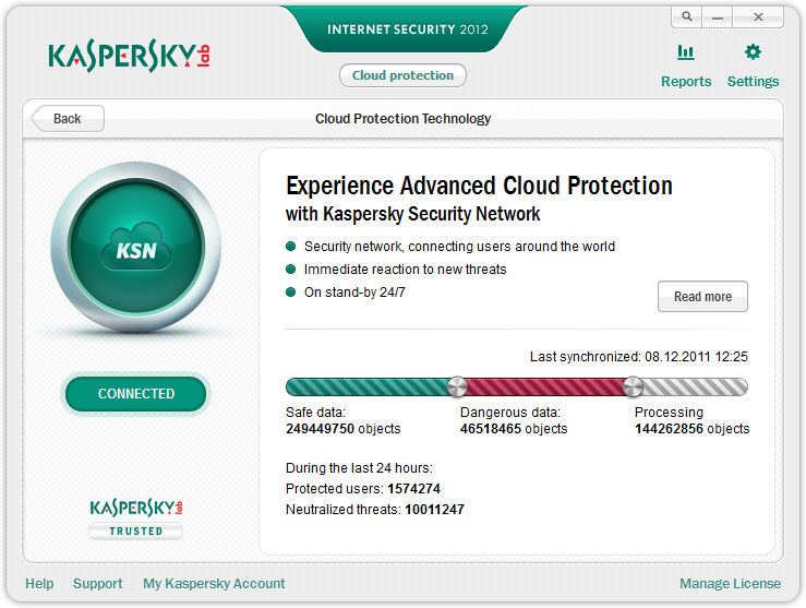 Kaspersky Security Network five years ago in 2011
