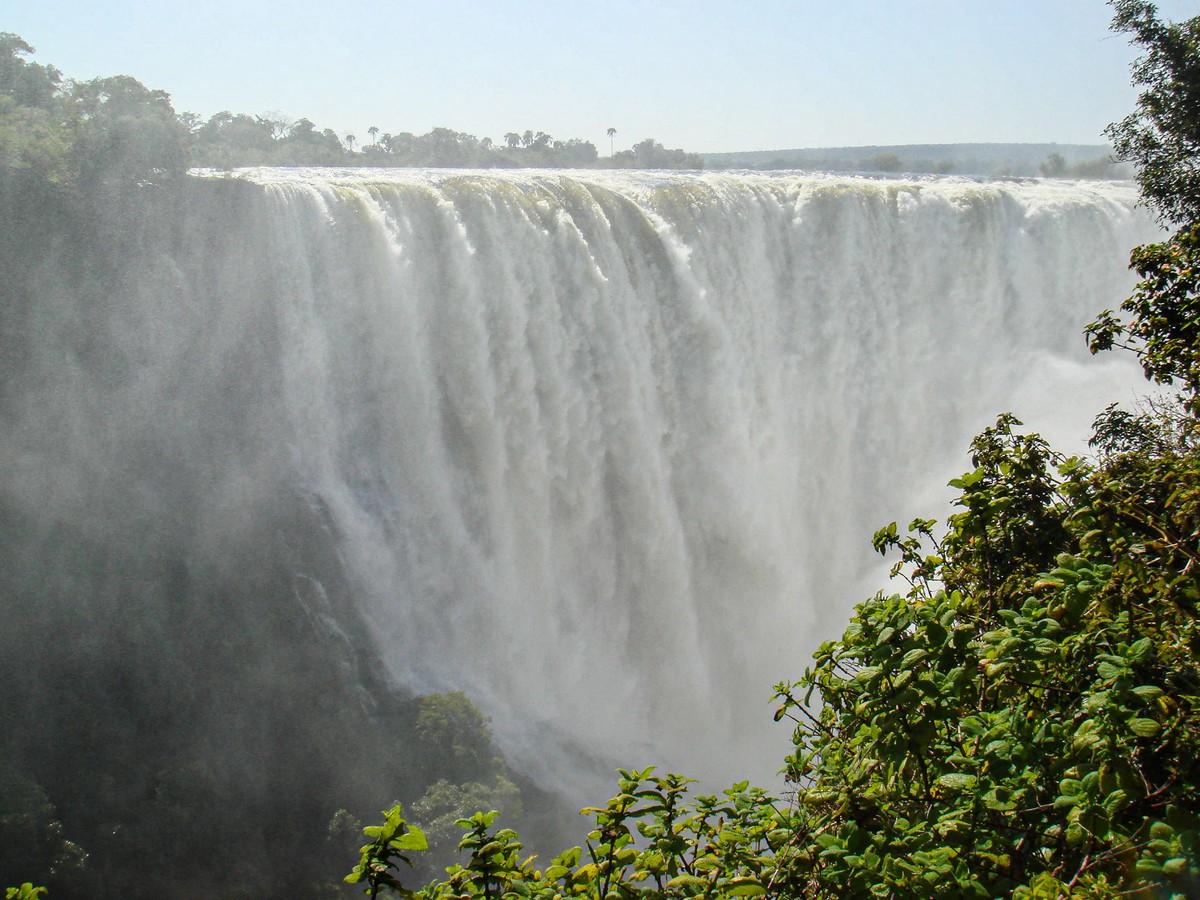 Victoria Falls: 2008 vs. 2020.