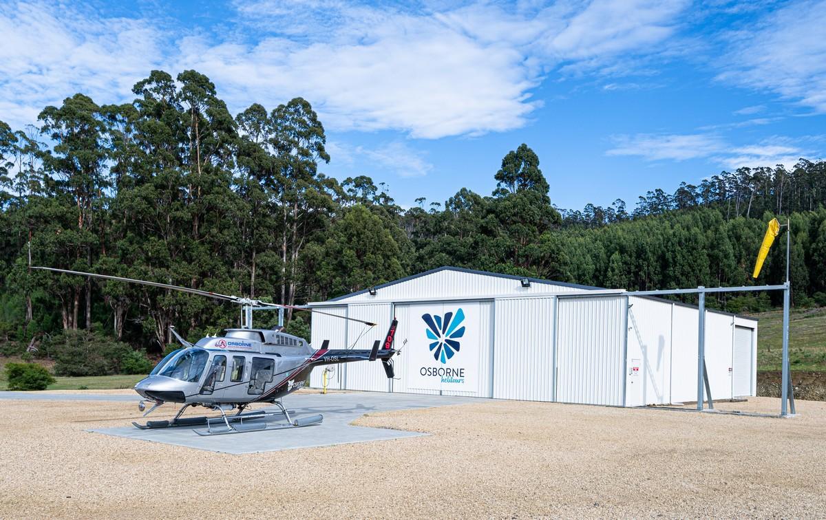 Tasmania in a chopper.