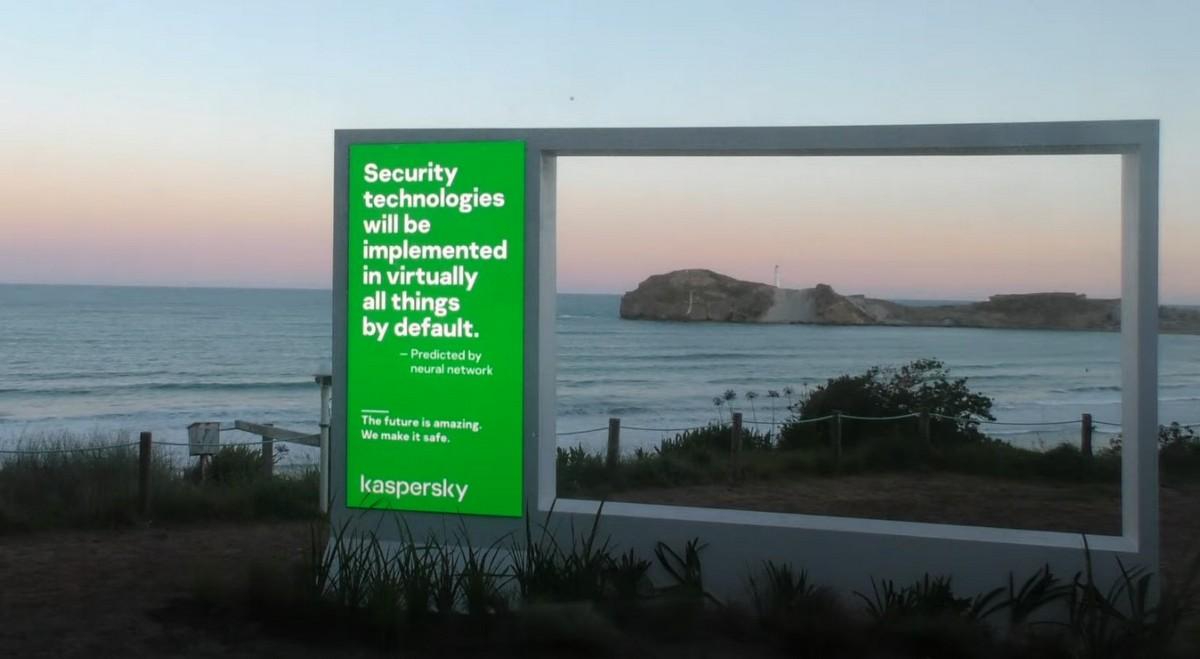 One Billboard Outside Wellington, New Zealand.
