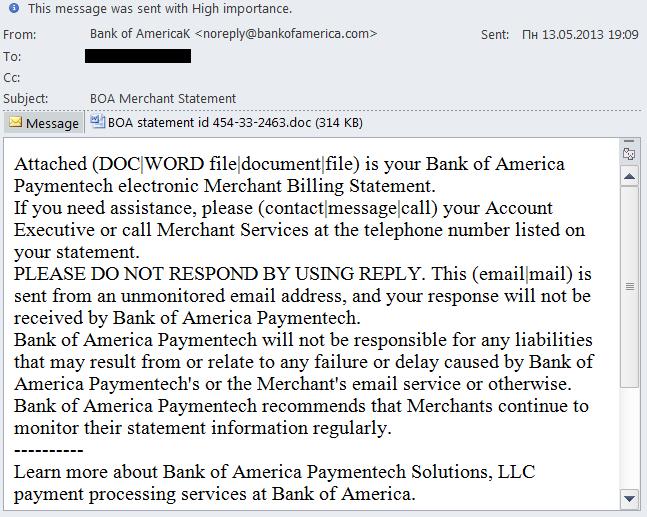 Lo spam nel secondo trimestre del 2013