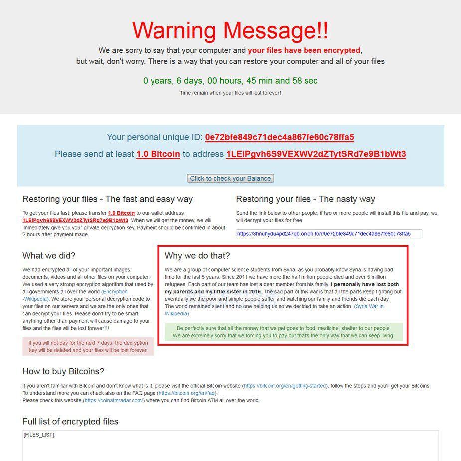 Il ransomware che concede gratis le chiavi di decodifica alle vittime che infettano gli altri